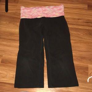Pink Victoria secret cropped leggings